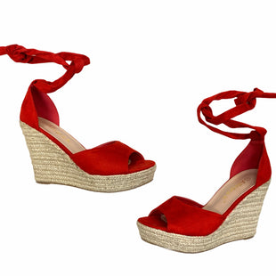 Primary Photo - BRAND:    ALLEGRA K  STYLE: SANDALS HIGH COLOR: RED SIZE: 8.5 OTHER INFO: ALLEGRA K - SKU: 223-22318-123367
