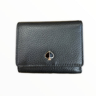 Primary Photo - BRAND: KATE SPADE STYLE: WALLET COLOR: BLACK SIZE: SMALL OTHER INFO: SPADE/GOLD SKU: 223-22318-123234