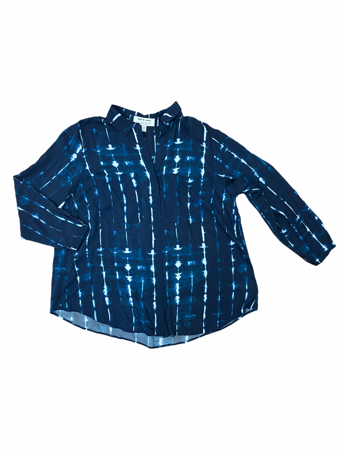 Primary Photo - BRAND: CLOTH AND STONE <BR>STYLE: TOP LONG SLEEVE <BR>COLOR: BLUE <BR>SIZE: 1X <BR>SKU: 223-22393-5127
