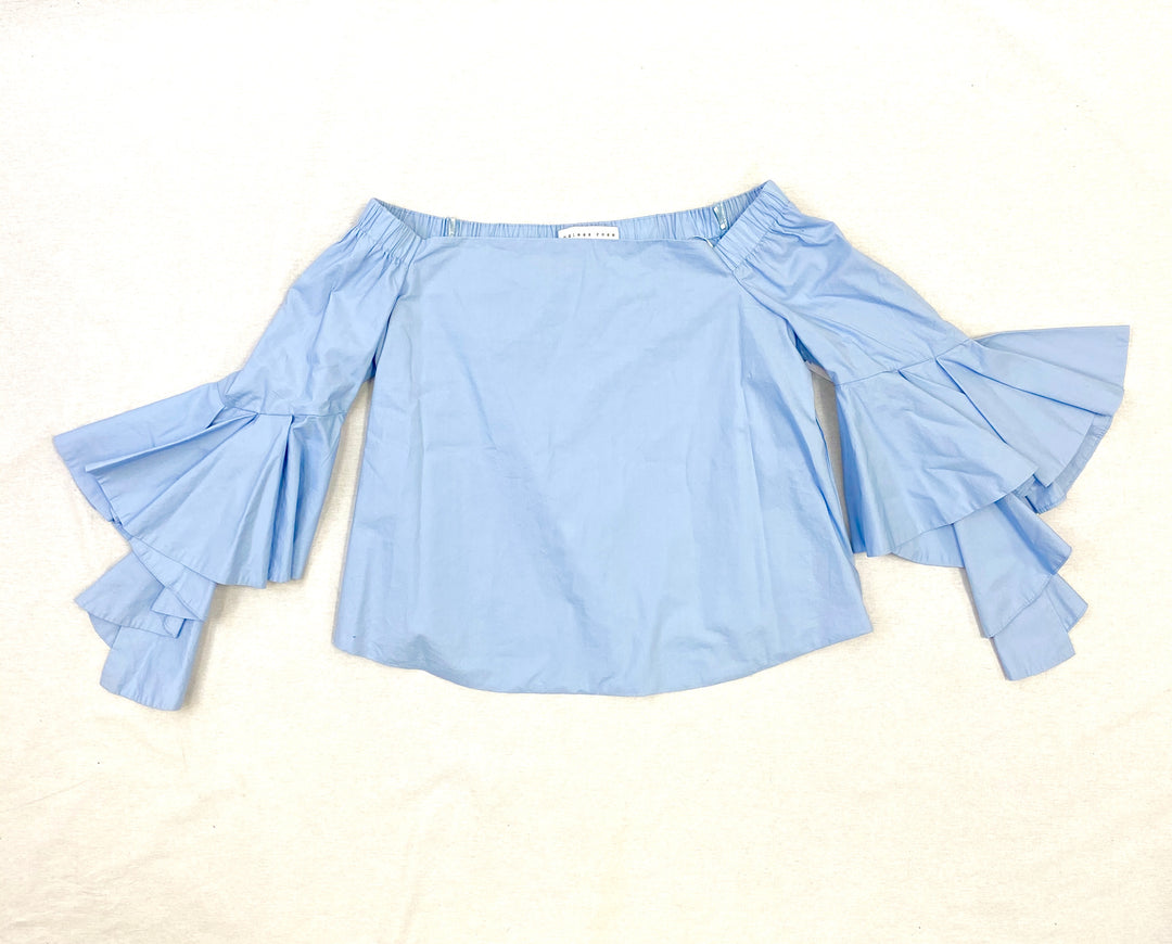 Primary Photo - BRAND:    CLOTHES MENTOR <BR>STYLE: TOP LONG SLEEVE <BR>COLOR: BABY BLUE <BR>SIZE: M <BR>OTHER INFO: ENDLESS ROSE - <BR>SKU: 223-22361-18323