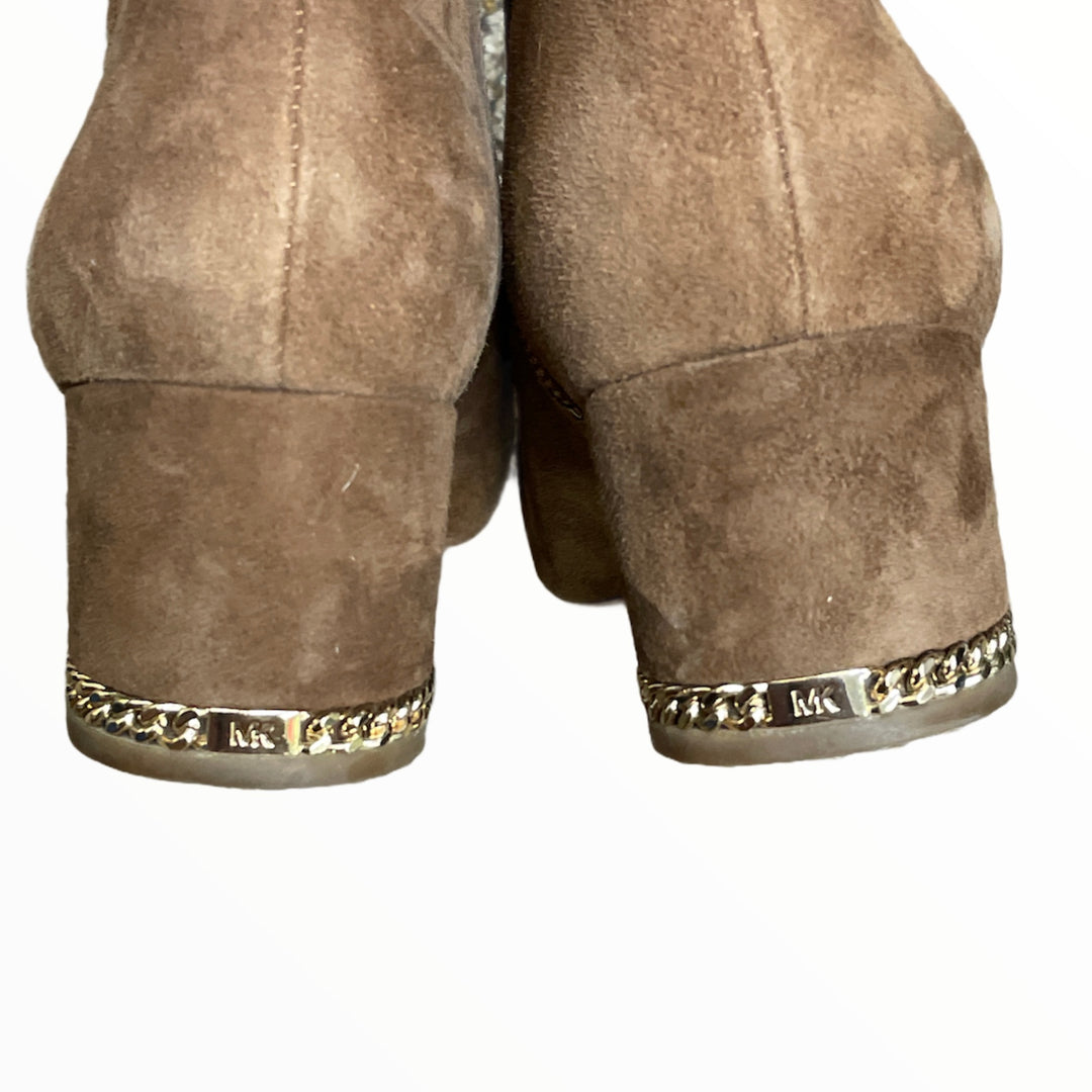 Photo #3 - BRAND: MICHAEL KORS <BR>STYLE: BOOTS ANKLE <BR>COLOR: CAMEL <BR>SIZE: 11 <BR>SKU: 223-22364-43323