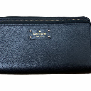 Primary Photo - BRAND: KATE SPADE STYLE: WALLET COLOR: BLACK SIZE: LARGE OTHER INFO: DOUBLE ZIP/WRISTLET SKU: 223-22318-122627