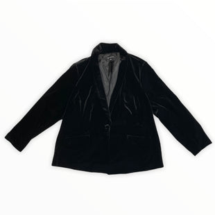 Primary Photo - BRAND: INTERNATIONAL CONCEPTS STYLE: BLAZER JACKET COLOR: BLACK SIZE: 3X OTHER INFO: VELVET SKU: 223-22318-119897