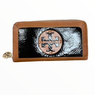 Primary Photo - BRAND: TORY BURCH STYLE: WALLET COLOR: TAN SIZE: LARGE OTHER INFO: BLACK PATENT SKU: 223-22318-123746