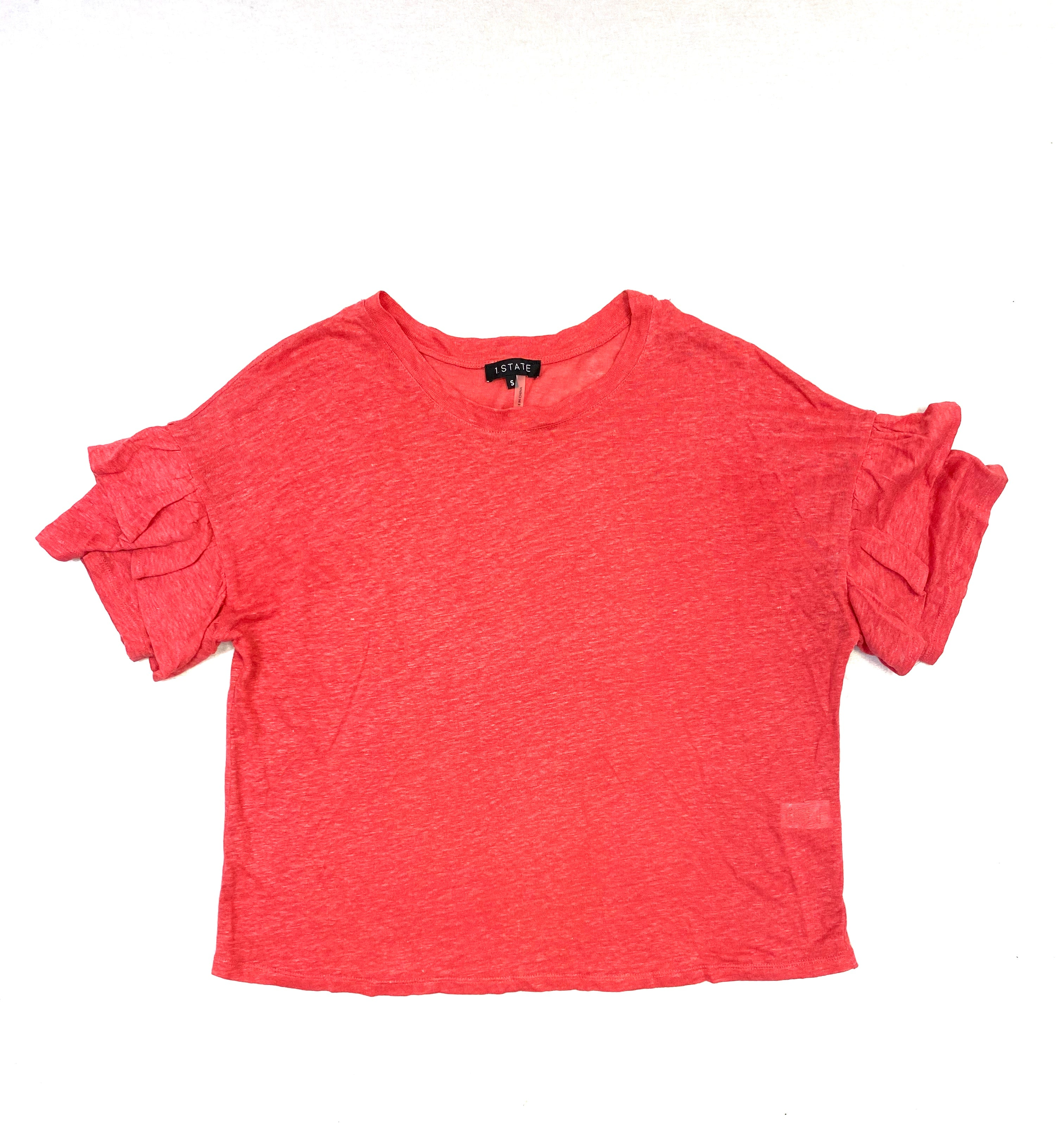 Primary Photo - BRAND:    CLOTHES MENTOR <BR>STYLE: TOP SHORT SLEEVE <BR>COLOR: SALMON <BR>SIZE: S <BR>OTHER INFO: 1 STATE - <BR>SKU: 223-22364-34920