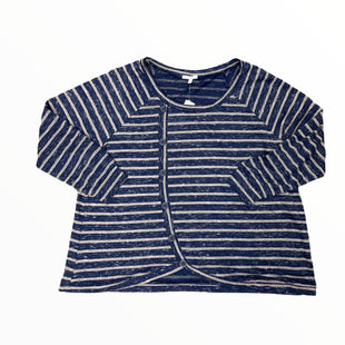Primary Photo - BRAND: MAURICES STYLE: TOP LONG SLEEVE COLOR: STRIPED SIZE: 3X OTHER INFO: BLUE AND TAN SKU: 223-22361-21832