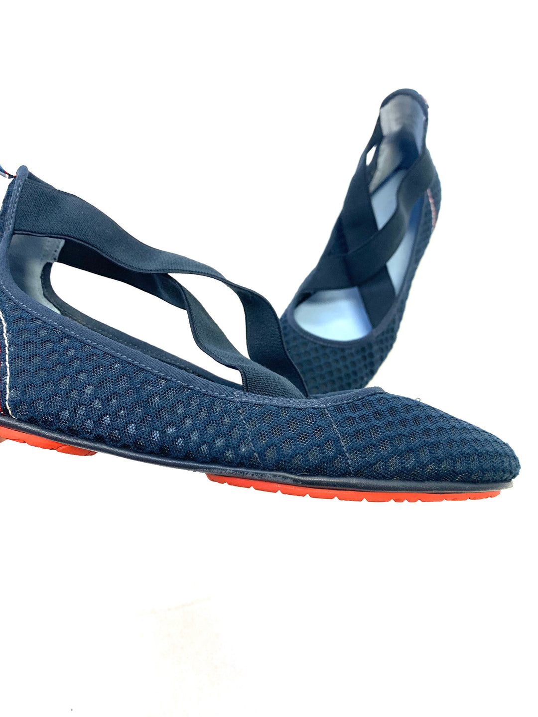 Photo #1 - BRAND: TORY BURCH <BR>STYLE: SHOES FLATS <BR>COLOR: NAVY <BR>SIZE: 8.5 <BR>SKU: 223-22361-18334