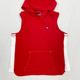 Primary Photo - BRAND: TOMMY HILFIGER STYLE: ATHLETIC TOP COLOR: RED WHITE SIZE: M SKU: 223-22318-105754