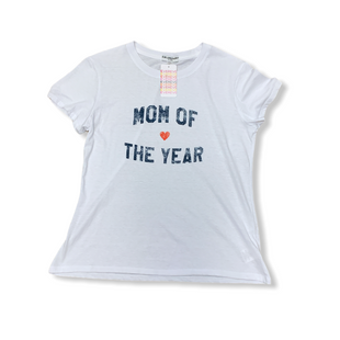Primary Photo - BRAND:   CMC STYLE: TOP SHORT SLEEVE COLOR: WHITE BLUE SIZE: M OTHER INFO: SUB_URBAN RIOT - MOM OF THE YEAR SKU: 223-22318-123179
