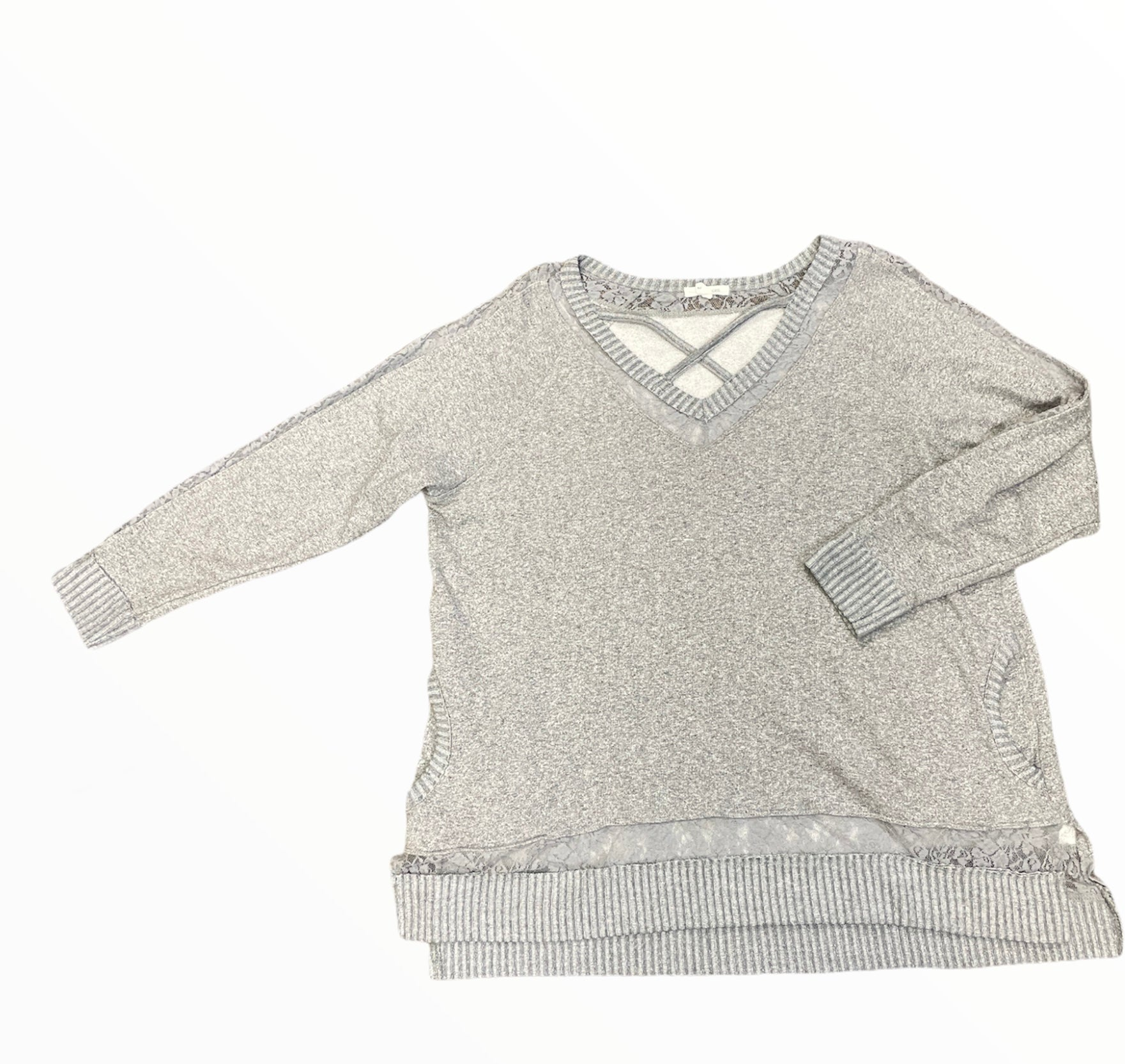 Primary Photo - BRAND: MAURICES <BR>STYLE: SWEATER HEAVYWEIGHT <BR>COLOR: GREY <BR>SIZE: 2X <BR>SKU: 223-22361-21831
