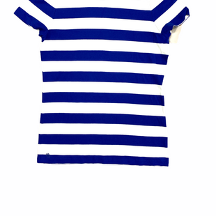 Primary Photo - BRAND: LAUREN BY RALPH LAUREN STYLE: TOP SHORT SLEEVE COLOR: WHITE BLUE SIZE: XL SKU: 223-22364-43821