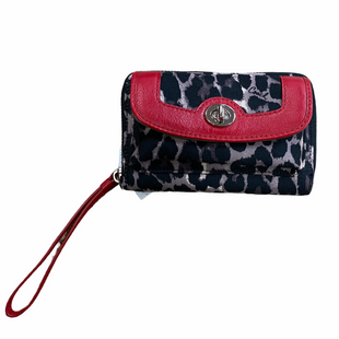Primary Photo - BRAND: COACH STYLE: WALLET COLOR: ANIMAL PRINT SIZE: MEDIUM OTHER INFO: RED SKU: 223-22343-18905