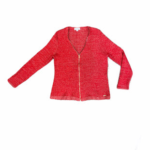 Primary Photo - BRAND: CALVIN KLEIN STYLE: SWEATER CARDIGAN HEAVYWEIGHT COLOR: RED SIZE: XL OTHER INFO: GOLD SKU: 223-22318-108942