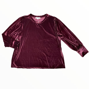 Primary Photo - BRAND: ANN TAYLOR LOFT STYLE: TOP LONG SLEEVE COLOR: MAROON SIZE: 2XOTHER INFO: VELVET SIZE 20/22SKU: 223-22318-123062