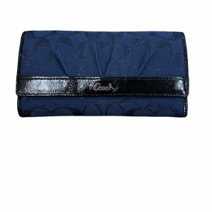 Primary Photo - BRAND: COACH STYLE: WALLET COLOR: NAVY SIZE: LARGE OTHER INFO: MONGRAM/BLACK/FABRIC SKU: 223-22318-113993