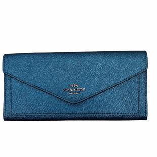 Primary Photo - BRAND: COACH STYLE: WALLET COLOR: BLUE SIZE: LARGE OTHER INFO: METALLIC SKU: 223-22364-40466