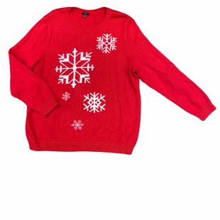 Primary Photo - BRAND: TALBOTS STYLE: SWEATER HEAVYWEIGHT COLOR: RED WHITE SIZE: 2X OTHER INFO: SNOWFLAKES SKU: 223-22343-17088