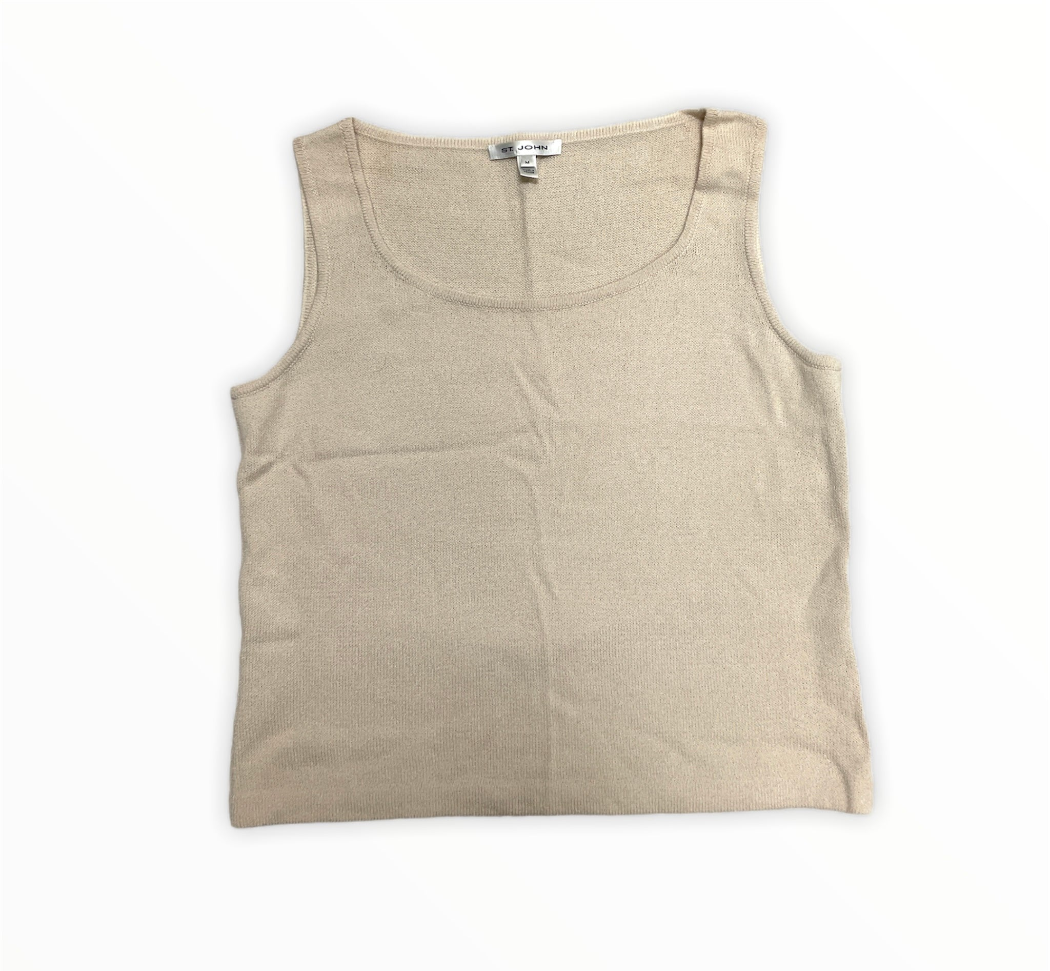 Primary Photo - BRAND: ST JOHN KNITS <BR>STYLE: TOP SLEEVELESS <BR>COLOR: CREAM <BR>SIZE: M <BR>SKU: 223-22318-115263