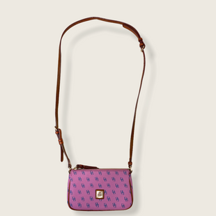 Primary Photo - BRAND: DOONEY AND BOURKE STYLE: HANDBAG DESIGNER COLOR: PURPLE SIZE: SMALL OTHER INFO: MONOGRAM SKU: 223-22364-41043
