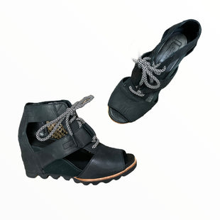 Primary Photo - BRAND: SOREL STYLE: SANDALS HIGH COLOR: BLACK SIZE: 7.5 SKU: 223-22318-123278