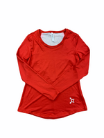 Primary Photo - BRAND:   CMC <BR>STYLE: ATHLETIC TOP <BR>COLOR: RED WHITE <BR>SIZE: S <BR>OTHER INFO: ORANGE THEORY - <BR>SKU: 223-22361-19154