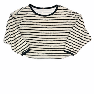 Primary Photo - BRAND: FREE PEOPLE STYLE: SWEATER CARDIGAN HEAVYWEIGHT COLOR: STRIPED SIZE: L OTHER INFO: CREAM BLACK SKU: 223-22361-22503