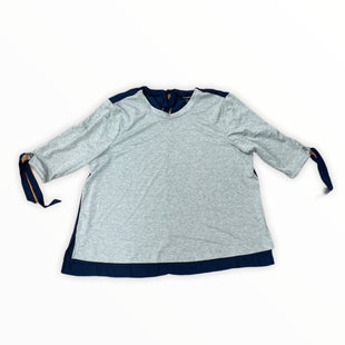 Primary Photo - BRAND: LANE BRYANT STYLE: TOP LONG SLEEVE COLOR: GREY SIZE: 4X OTHER INFO: NAVY BACK SKU: 223-22343-20809