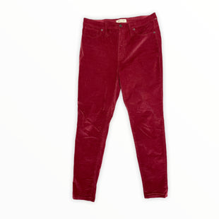 Primary Photo - BRAND: MADEWELL STYLE: PANTS COLOR: RASPBERRY SIZE: 12 OTHER INFO: VELVET SKU: 223-22318-120481
