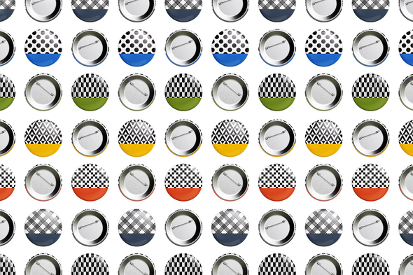 Cultural Patterns — Button Pin