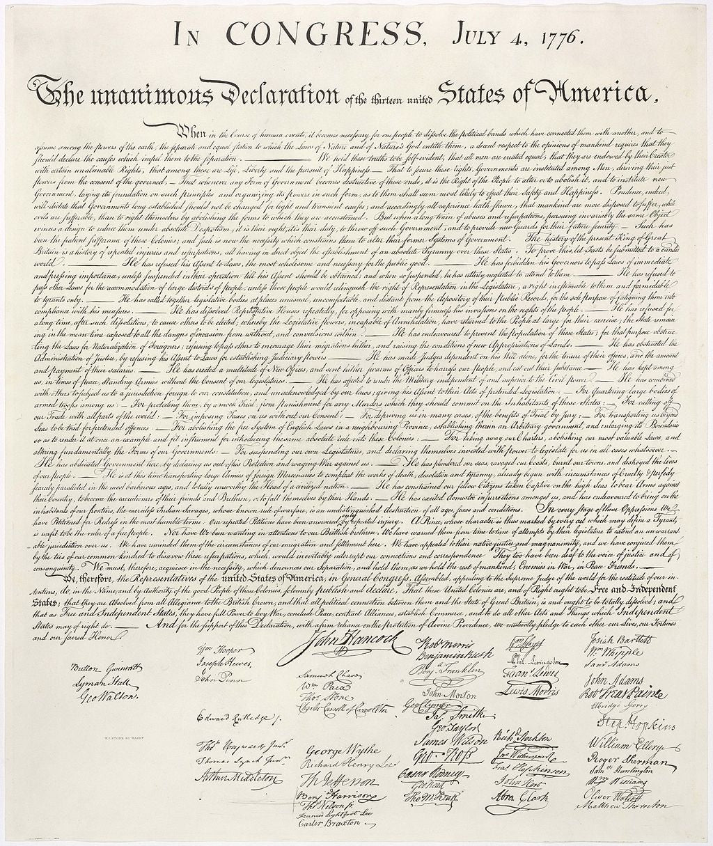 The Declaration or Independence
