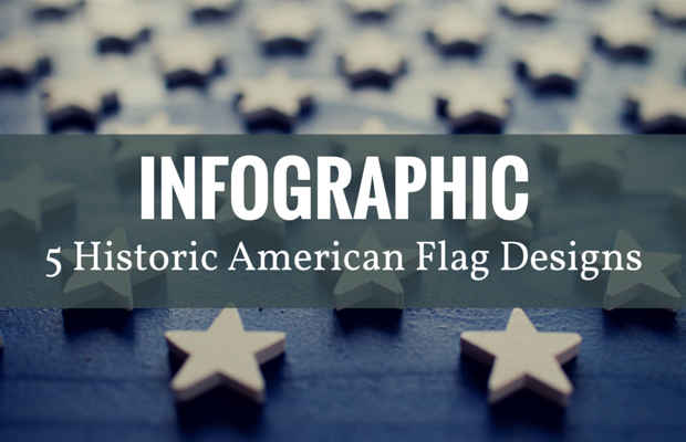 American flag designs infographic
