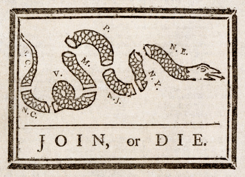 Join Or Die A Symbolic Banner In Americas History Patriot Wood
