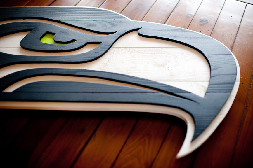 Seahawks Wood Flag from Patriot Wood