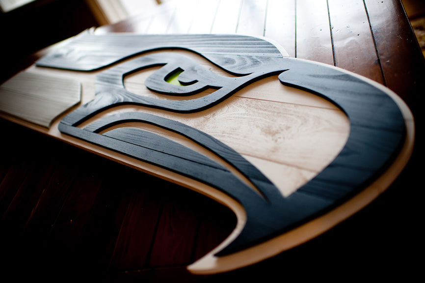 Seattle Seahawks wood flag from Patriot Wood