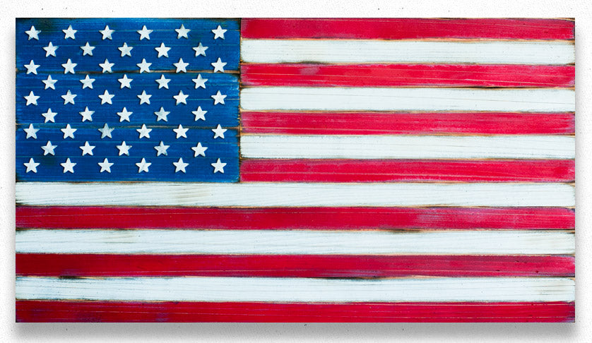 Patriot American Wood Flag