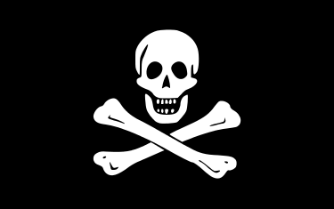 The skull-and-crossbones flag