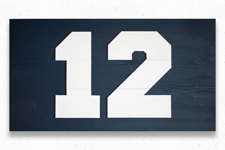 Seahawks 12th Man Wood Flag, wooden wall art by Patriot Wood