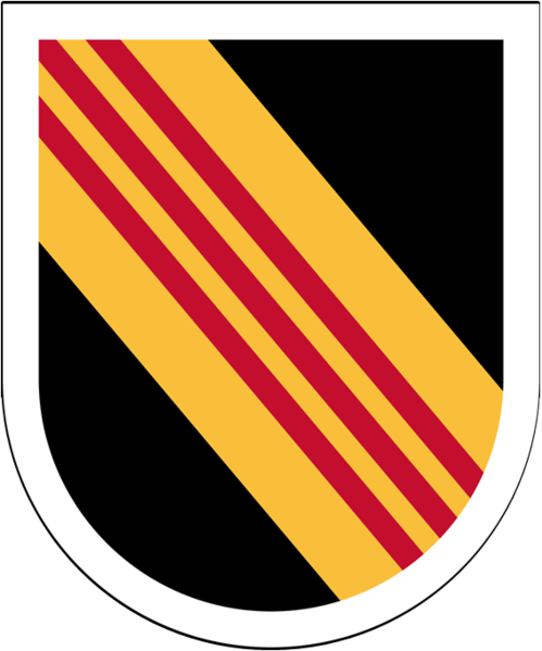 10th Special Forces Group Wood Flash