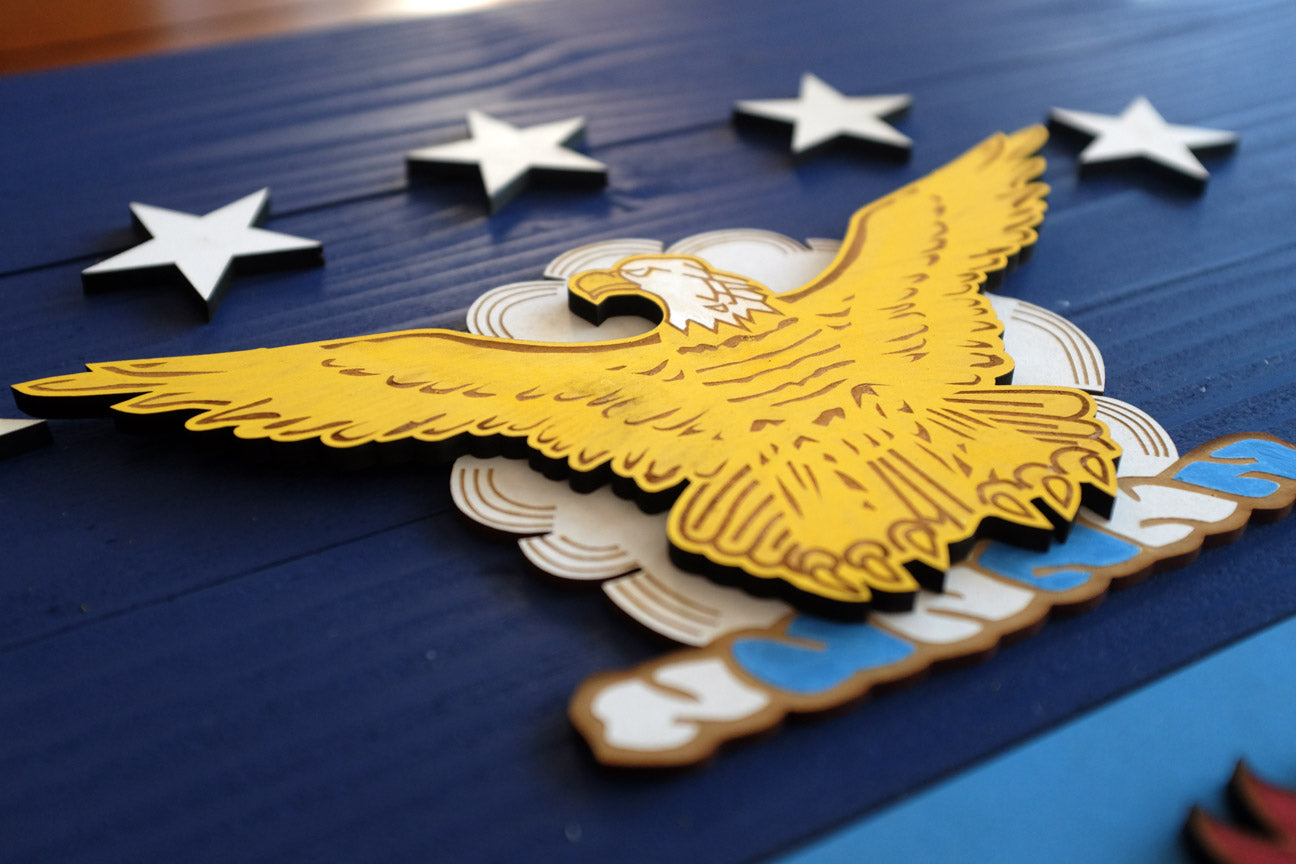 US Air Force Wooden Flag by Patriot Wood