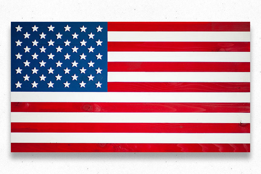 American wood flag, US wooden flags by Patriot Wood