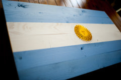Argentina wood flag, wooden wall art by Patriot Wood
