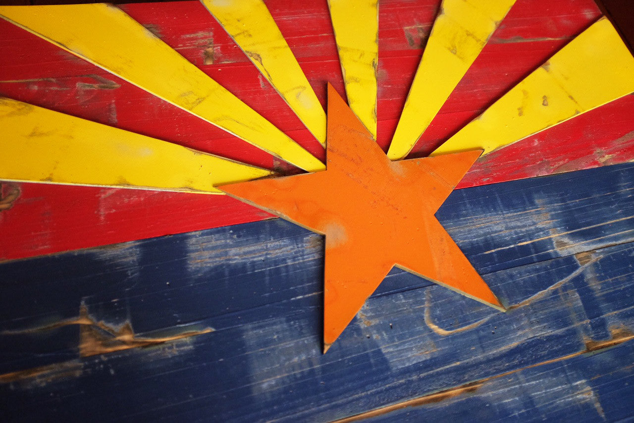 Arizona Vintage Wood Flag