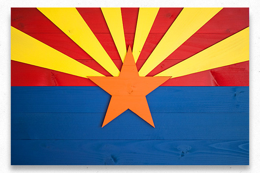 Arizona wood flag, Arizona wooden flag, wall art by Patriot Wood