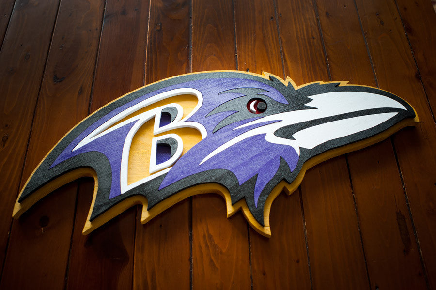 Baltimore Ravens Wood Wall Art
