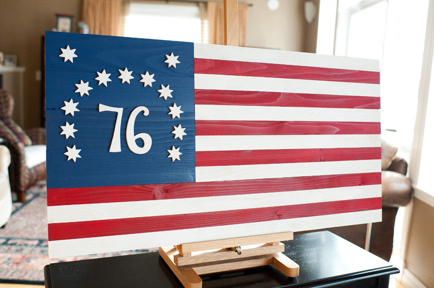 Bennington wood flag, wooden flags by Patriot Wood