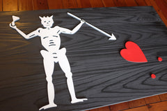 Blackbeard Jolly Roger Pirate Wooden Flag by Patriot Wood