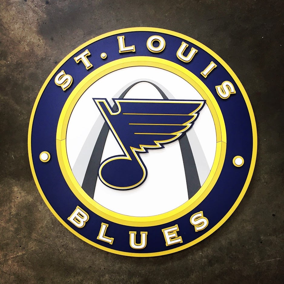 St. Louis Blues Wooden Wall Art by Patriot Wood