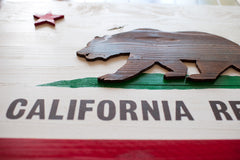 California wood flag, California wooden flags by Patriot Wood