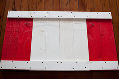 Canadian wood flag, wooden wall art by Patriot Wood