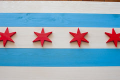 Chicago Wood Flag by Patriot Wood